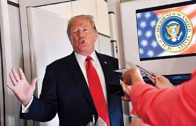 特朗普胁迫对更多的华夏进口商品加征关税。(法新社照片)