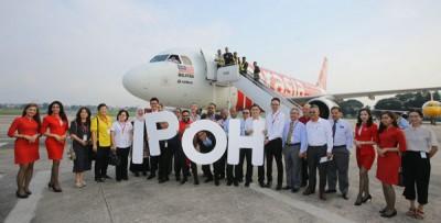 柔佛士乃往来怡保航班周一开提供服务。