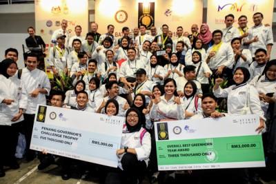 """槟城玛拉工艺大学成为""""第17届厨师争霸赛""""大赢家。"""