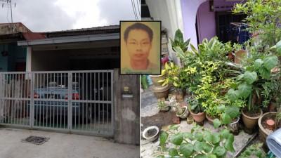 谢庭宏驾驶的轿车还停放在屋前。谢庭宏屋子范围内仍有母亲生前种植的植物。