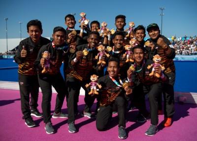 大马5人男钩队在周日决赛胜出,刷下大马代表团在本届阿根廷青年奥运会的第二枚金牌。