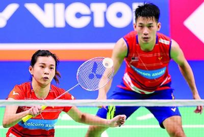 陈炳顺/吴柳萤将在次圈硬碰全英赛冠军渡边勇大/东野有纱。