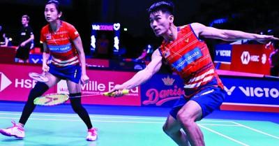 陈炳顺/吴柳莹顺利打败恩师颜伟德的日本徒弟,挺进丹麦公开赛8强。