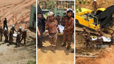 拯救队于周日在现场再挖出3具尸体。