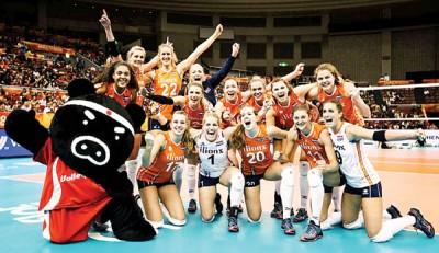 荷兰首进世锦赛四强,全队好开心