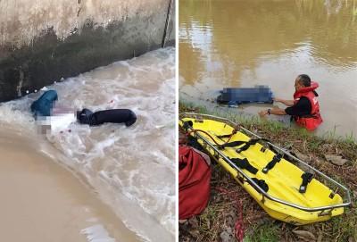 (左)诺丽娜遗体被发现于甘榜伯拉巴都河。(右)诺玛遗体被发现于在淡汶都浪河。