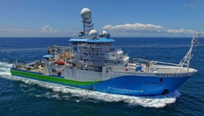 """""""调查员""""观船的装备以这次活动着任重而道远。"""
