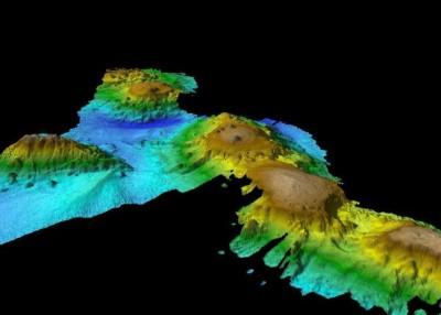 科学家将全部海底山群的模样描绘出。