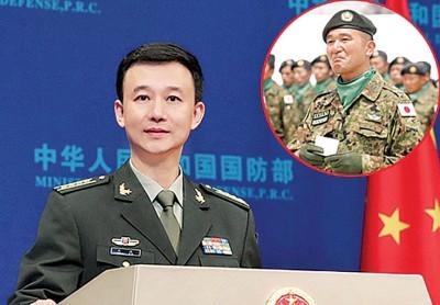 """华夏国防部发言人吴谦""""纠错"""",因没有日军,日本只有自卫队。"""