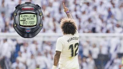 第72分钟,马塞洛破门,结束皇马481分钟球荒!