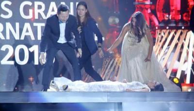 巴拉圭小姐索莎夺得冠军却以台上昏倒,只怕所有人。