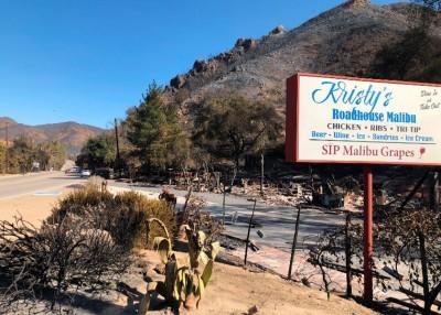 山火令原本位处招牌旁边的餐厅完全消失。