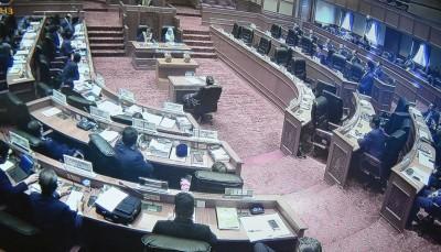 吉打州议会的反对党议员座位一望无人。