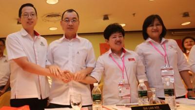 陈庆亮、谢顺海、陈莲花及吴秀丽最后一次以领袖身份出席代表大会。