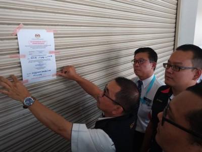 北海拉惹乌达某点心楼因卫生问题而遭勒令关闭2星期。