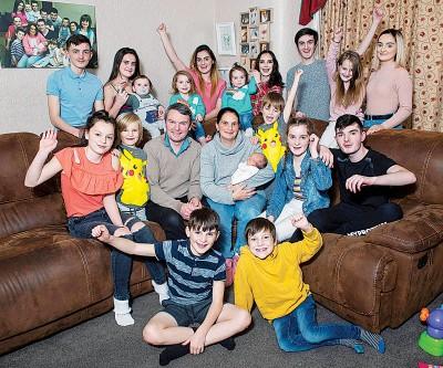 雷德福一家是英国最多子女的家中。