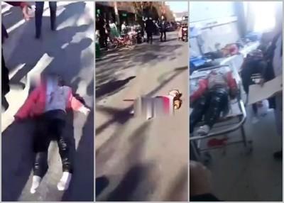 多名学员给撞后倒卧在地,进而被送往医院抢救。