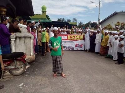 华玲区穆斯林聚集在居邦清真寺外,和平抗议ICERD约。