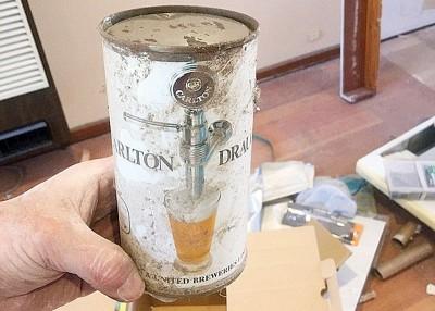 啤酒藏于墙壁内。