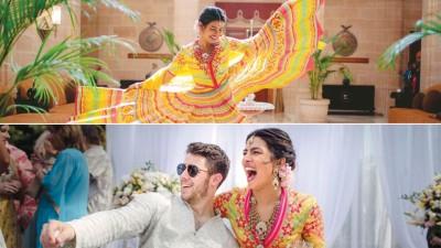 (直达)琵艳卡乔普拉在婚前派对上翩翩起舞。(生)印度女星琵艳卡乔普拉与小10东的男星尼克强纳斯走2单月后于7月互许终身。