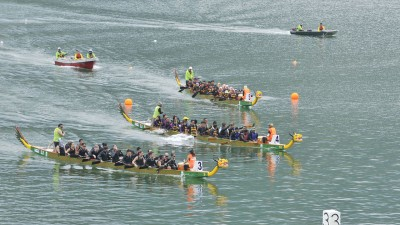 今年的槟城国际龙舟节参与队伍创下历史新高,吸引最多龙舟队伍参与。