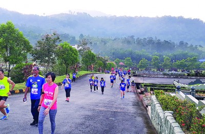太平山庄绕庄义跑,给公众感受人生净土的宁静。