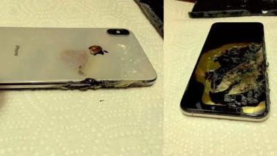 希拉德提供的iPhone XS Max爆炸后相片。