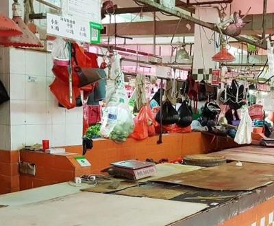 深圳有肉档因生意惨淡,选择休业。