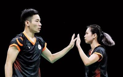 陈炳顺/吴柳莹将以独立球员身份争夺奥运资格。