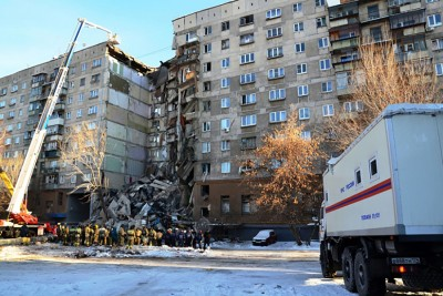 大厦一部分建筑物倒塌。