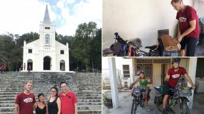 两人来到大山脚,获得好友董雯玫(右2)热情招待,也游览多个著名景点包括圣安纳教堂。在大山脚短暂停留后,杰克与女友打包行囊,出发继续南下。