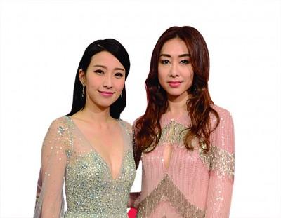胡定欣(右)和姐妹姚子羚同接受大马媒体访问。
