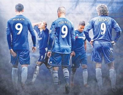 当中表现不尽理想的蓝军9号球星包括了克雷斯波、托雷斯和莫拉塔。