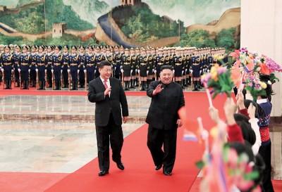 习近平及金正恩同意共同推动中朝关系不断发展。