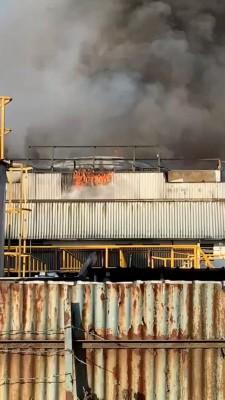 北赖工业区工冷缩房失火。