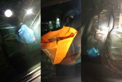车上有事主的手机、衣物、包包