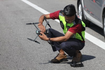 大马道路安全研究院亦准备使用无人机,从高空处拍摄案发现场。