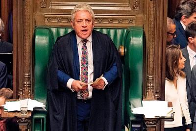 议员表决的修正案由下议院议长约翰伯考摘。(法新社照片)