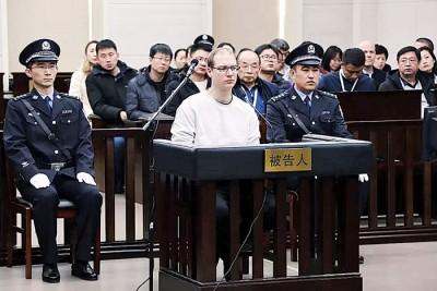 谢伦伯格在中国走私冰毒被判死刑。(法新社照片)