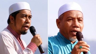 (左)哈聂卡查里促请吉打希盟政府认真对待马莫人民对的水荒问题。(右)阿兹占:欲盟政府满口慌言。