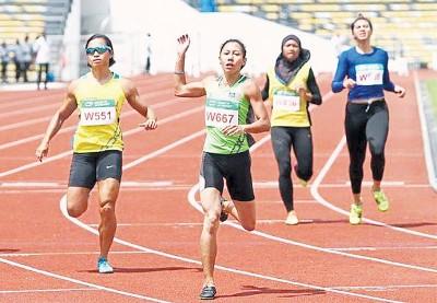 胡丝妮雅取失父子100米金牌。