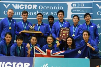 从2010年就没让冠军旁落的澳洲羽球队蝉联大洋洲混合团体冠军宝座。