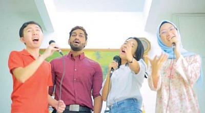 各族参与短片录制,呼吁国人维护马来西亚大家庭的和谐。