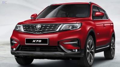 宝腾告在单日交付1000这部宝腾X70休旅车予客户。