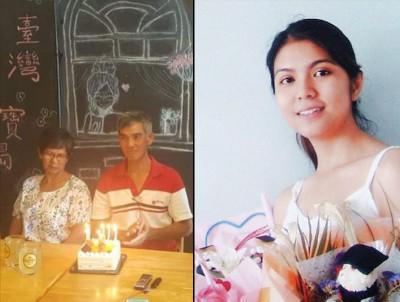 (左)朱亚寿去年2月15日高高兴兴的庆生,但随着新政府宣布考虑废除死刑后,朱家即感到愤懑。(右)朱玉叶。