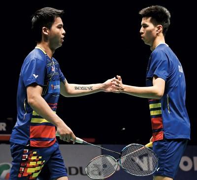 张御宇与王耀新(右)希望在海外赛事同样取得大马大师赛般佳绩。