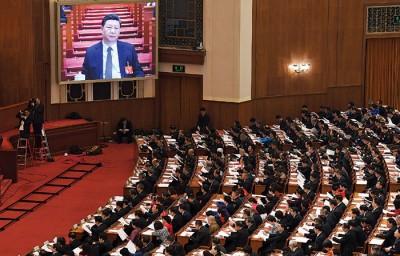 第13届中国人大二次会议在北京开幕。(法新社照片)