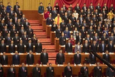 中华国家主席习近平当领导人同超过2000何谓政协委员齐聚北京市人民大会堂。(法新社照片)