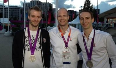 波伊(右)与摩根森(左)曾经赢得2012年伦敦奥运会银牌。